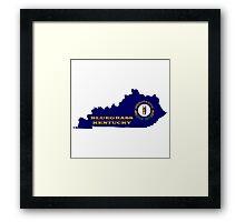 Bluegrass Kentucky Map Framed Print