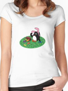 Easter Penguin Women's Fitted Scoop T-Shirt