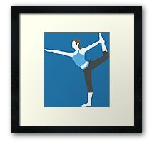 Wii Fit Trainer Vector Framed Print