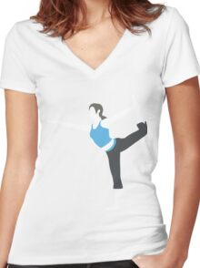 Wii Fit Trainer Vector Women's Fitted V-Neck T-Shirt