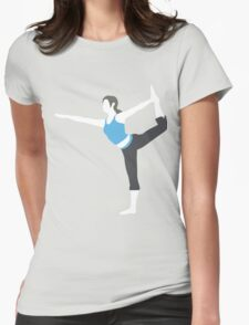 Wii Fit Trainer Vector Womens Fitted T-Shirt