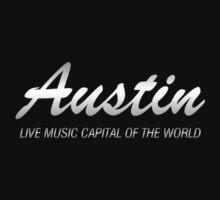 Austin live music (silver)  Kids Tee