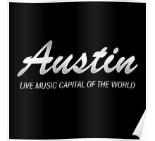 Austin live music (silver)  Poster
