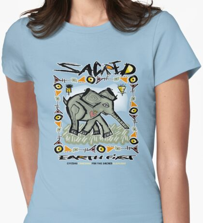 sacred elephant Womens Fitted T-Shirt
