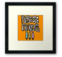 POPSICLE PRINCESS Framed Print