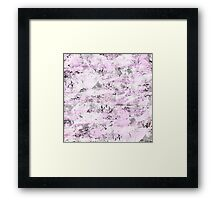 Pink & Gray Abstract Framed Print