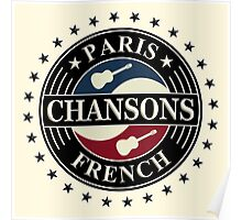 Paris chansons french Poster