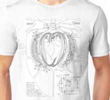 Avian Respiratory System, B&W Unisex T-Shirt