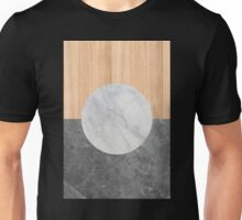 Marble and wood abstract Unisex T-Shirt