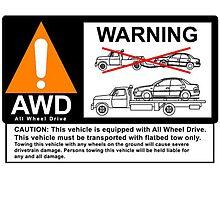 AWD Warning Towing Subaru by fadouli