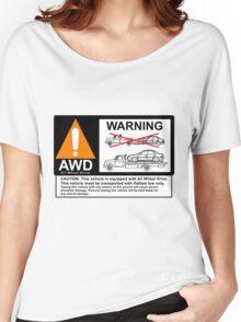 AWD Warning Towing Subaru Women's Relaxed Fit T-Shirt