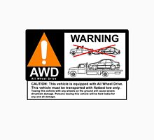 AWD Warning Towing Subaru T-Shirt