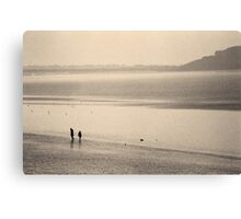 Winter Morning On The Beach Canvas Print