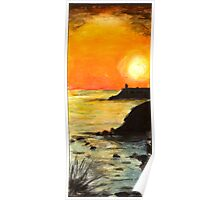 Sunset on the sea Poster