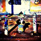 Fire Hydrant & graffiti art by ShellyKay