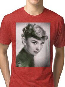 Audrey Hepburn Hollywood Actress Tri-blend T-Shirt