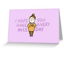 Happy Day | Positive Affirmation  Greeting Card