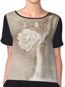 painted still life with flowers Chiffon Top