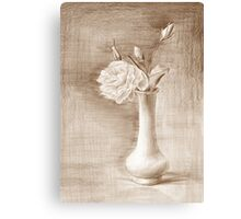 painted still life with flowers Canvas Print