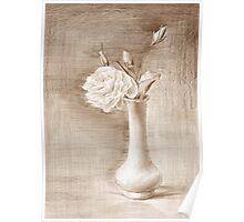 painted still life with flowers Poster