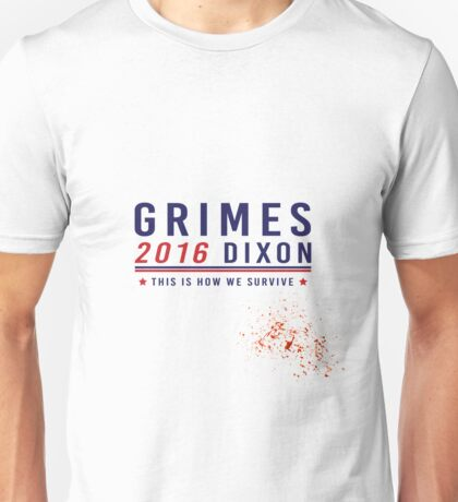 Grimes Dixon 2016 (Blood Splatter)  Unisex T-Shirt