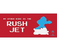 My Other Ride is the Rush Jet Photographic Print
