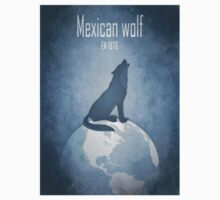 Mexican wolf - endangered animals Kids Tee