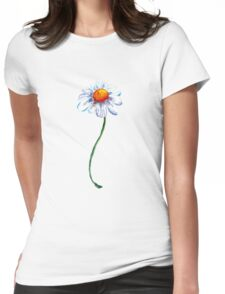 White Camomile Womens Fitted T-Shirt