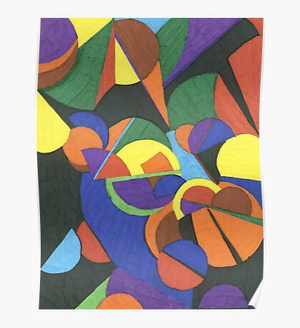 A colourful abstract design Poster