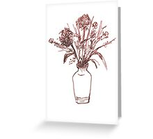 Magenta Floral Greeting Card