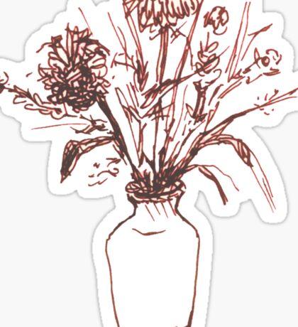 Magenta Floral Sticker