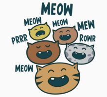 the meow kitty cat chorus  Kids Tee