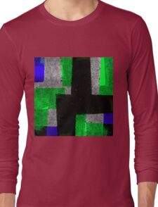 Abstract Tiles Long Sleeve T-Shirt