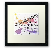 Life Is a Great Big Canvas Framed Print