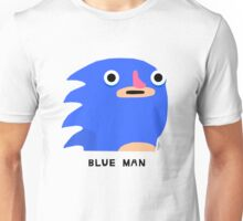 Blue man (black text) Unisex T-Shirt