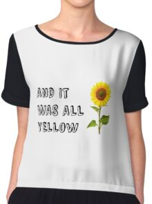 Coldplay-Yellow Chiffon Top