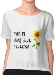 Coldplay-Yellow Chiffon Top