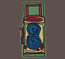 Bold and Colorful Camera Design Baby Tee