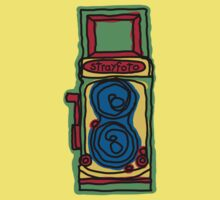 Bold and Colorful Camera Design Kids Tee