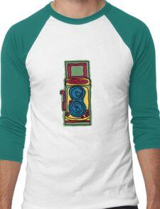 Bold and Colorful Camera Design Men's Baseball ¾ T-Shirt