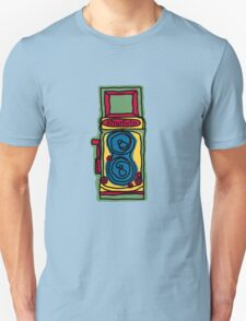 Bold and Colorful Camera Design T-Shirt