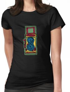 Bold and Colorful Camera Design Womens Fitted T-Shirt
