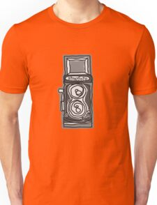 Bold, Black and White Camera Line Drawing Unisex T-Shirt