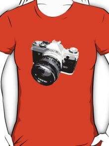 Black and White 35mm SLR Design T-Shirt