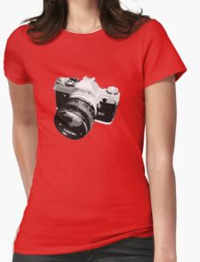 Black and White 35mm SLR Design Womens Fitted T-Shirt