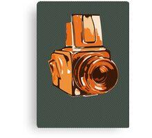 Medium Format 6x6 Camera Design in Orange Canvas Print