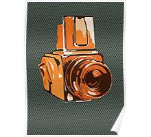 Medium Format 6x6 Camera Design in Orange Poster