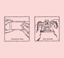 Likes Shooting (black ink for light background) Kids Clothes