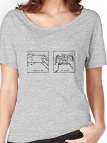 Likes Shooting (black ink for light background) Women's Relaxed Fit T-Shirt