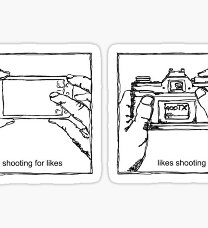 Likes Shooting (black ink for light background) Sticker